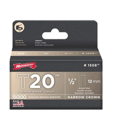 Arrow Fastener 1508 ET150 1/2 Inch (12mm) Staples, 5000/Pk at Sears.com
