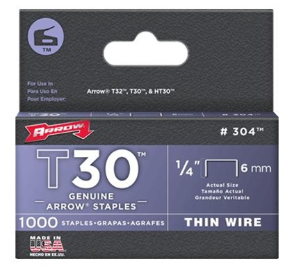 Arrow Fastener 304 T30 1/4 Inch (6mm) Staples, 1000/Pk at Sears.com