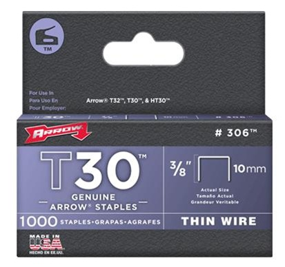 Arrow Fastener 306 T30 3/8 Inch (10mm) Staples, 1000/Pack at Sears.com