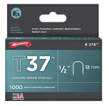 "Arrow Fastener 378 T37 1/2"" Round Crown Staples, 1000/Pk at Sears.com"