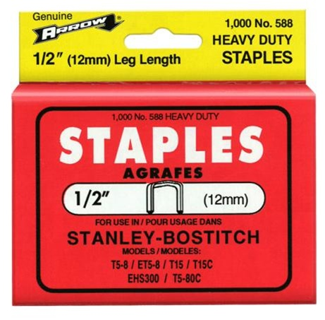 Arrow Fastener 588 1/2 Inch (12mm) Staples, 1000/Pk at Sears.com